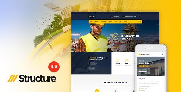 Structure - Tema De Construccion Wordpress Premium - $ 220,00 en ...