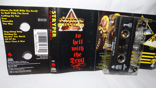 stryper - to hell with the devil (carcasa:ex - inserto:ex)