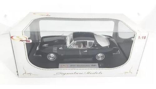 studebaker avanti 1963 1:18 signature models 18101-preto