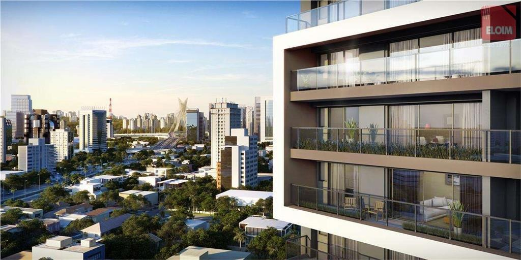 studio com 1 dormitório à venda, 41 m² por r$ 545.090 - brooklin - são paulo/sp - st0006