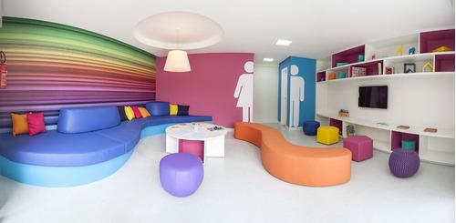 studio com 32,76m² de área privativa - centro de curitiba!!