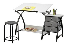 Incredible Studio Designs 13326 Comet Center With Stool Black White Bralicious Painted Fabric Chair Ideas Braliciousco