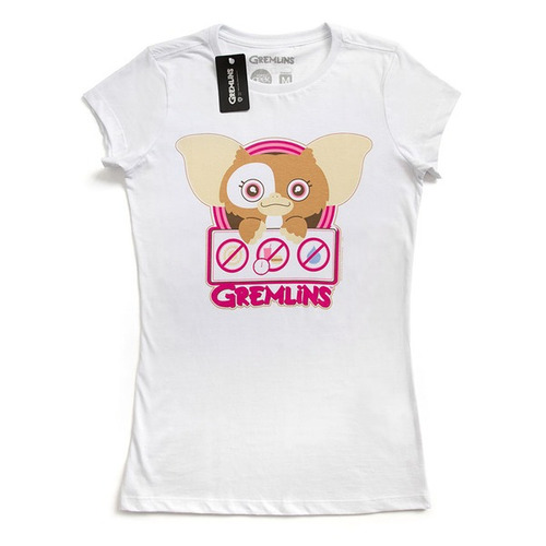 studio geek - camiseta feminina safety first gremlins