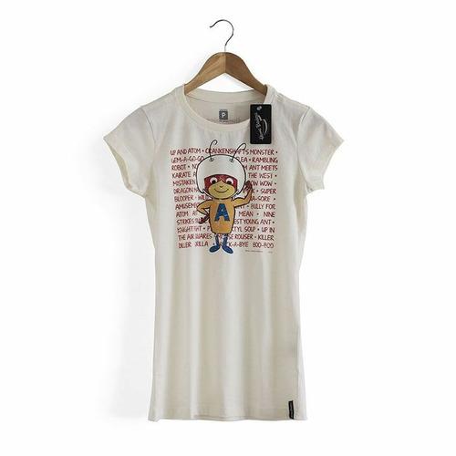 studio geek - camiseta feminina vintage formiga atômica