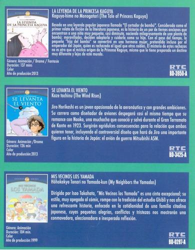 studio ghibli vol 4 kaguya yamada viento pelicula blu-ray