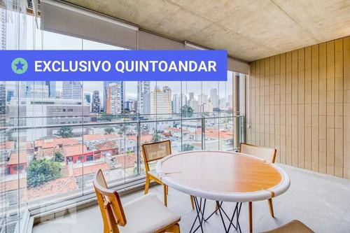 studio no 4º andar mobiliado com 1 dormitório e 1 garagem - id: 892958432 - 258432