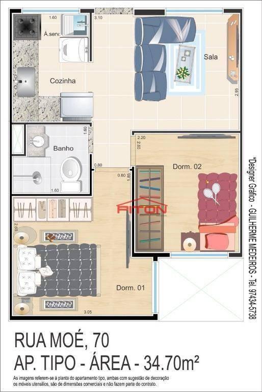 studio residencial à venda, vila ré, são paulo - st0026. - st0026