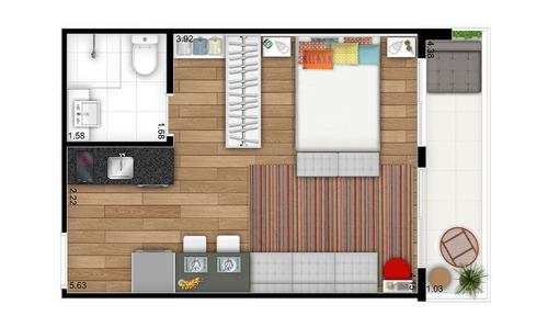 studios de 27,00m² á 45,00m² todos com sacadas