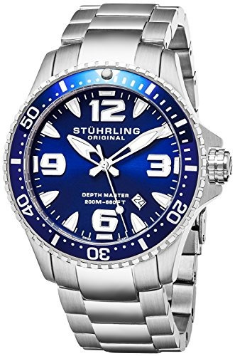 stuhrling original mens swiss quartz acero inoxidable deport
