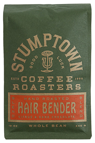 stumptown coffee tostadores whole grano de café, hairbender,