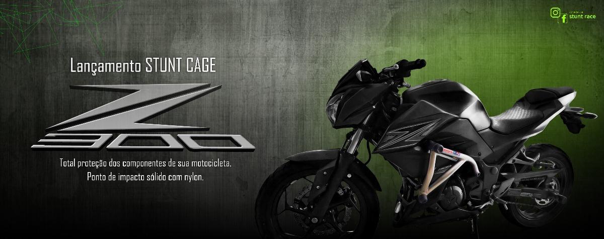 Stunt Cage Kawasaki Z 300, Stunt Race Brasil/protetor/slider