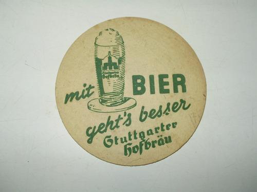 stuttgarter cerveza antiguo posavaso carton coleccion