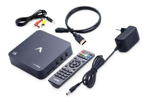 stv-2000 - receptor smart tv box aquário 4k android nougat