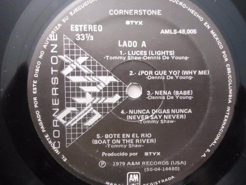 styx / cornerstone vinyl lp acetato