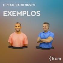 sua miniatura real de busto com escaneamento e impressão 3d