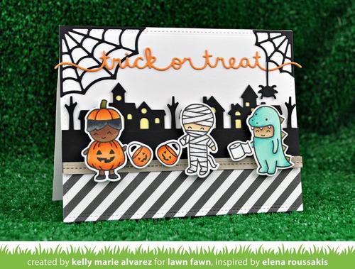 suaje cortador lawn fawn scrapbook halloween telaraña araña