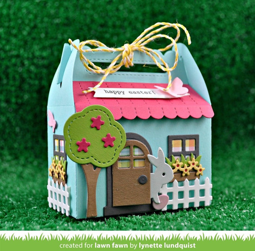 suaje cortador lawn fawn scrapbook manualidades casita caja