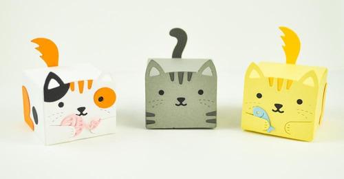 suaje cortador lawn fawn scrapbook tiny gift box cat gatos