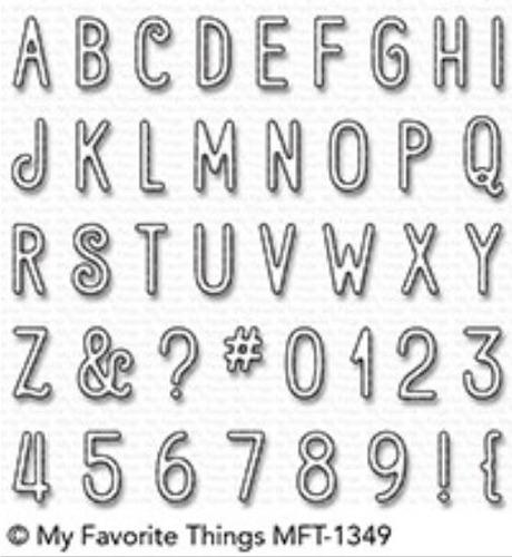 suaje cortador my favorite things scrapbook alfabeto numeros