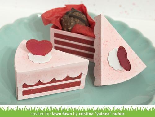 suaje lawn fawn scrapbook cake slice box rebanada pastel