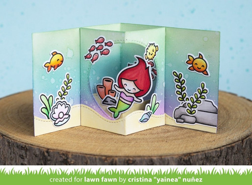 suaje lawn fawn scrapbook manualidades picture window card