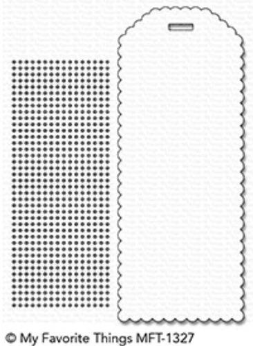suaje my favorite things scrapbook scallop cross-stitch book