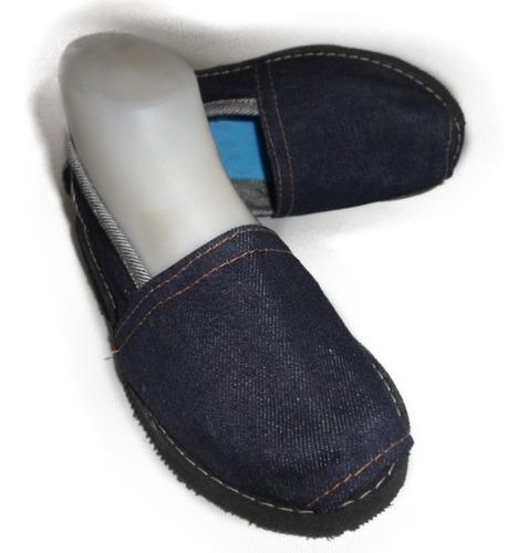 suaves alpargata en jeans para damas y hombres tipo zapatos
