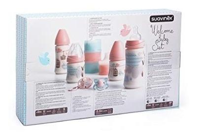 suavinex welcome baby set 7 productos rosado flaber , rosa