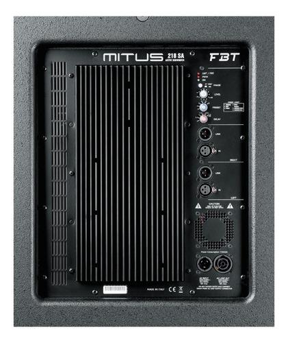 sub bajo amplificado doble 18  fbt mitus 218sa de 2000 watt.