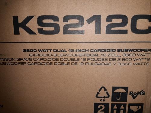 sub potenciado qsc ks212c en caja!