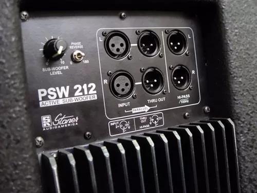 sub woofer ativo staner psw 212 220w 12p cor branca