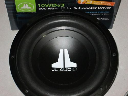 sub woofer  jl audio mod. 10 w0 v 3 - 300 watts 10 pol.