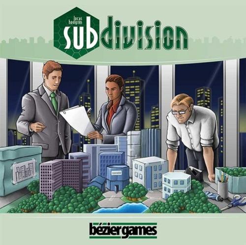 subdivision - jogo de tabuleiro importado - bezier games