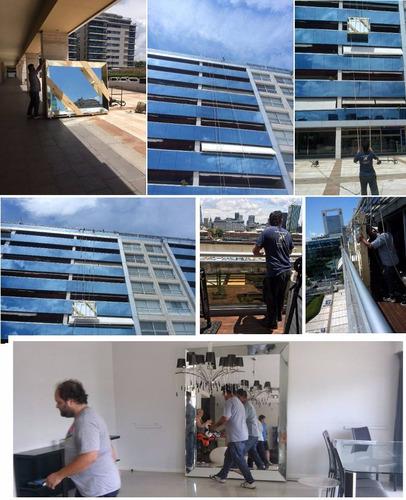 subir bajar muebles izaje flete balcon ventana terraza