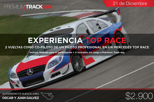 subite regalate 2 vueltas top race v6 mercedes benz