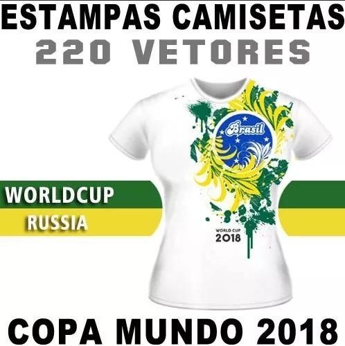 Sublimação Artes Prontas Camisetas Copa Russia 2018 Vetores - R  9 ... bdf37e9f0f3cb