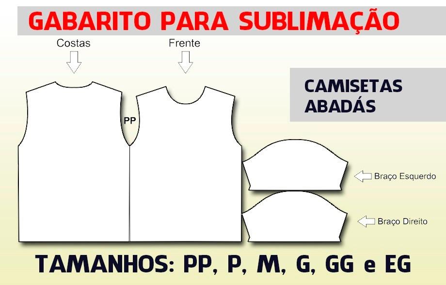 Sublimação De Camisetas Gabarito E Moldes Em Corel E Pdf - R  19 c90536d62e815