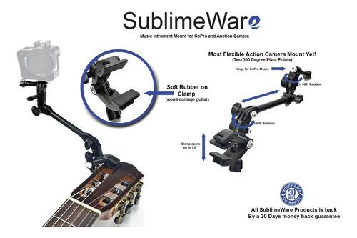 sublimeware®-música monte gopro guitarra del cabezal de micr