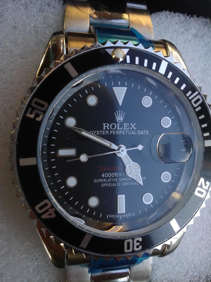 d79a515dcf0 submariner black com caixa todo funcional - tamanho grande. Carregando zoom.
