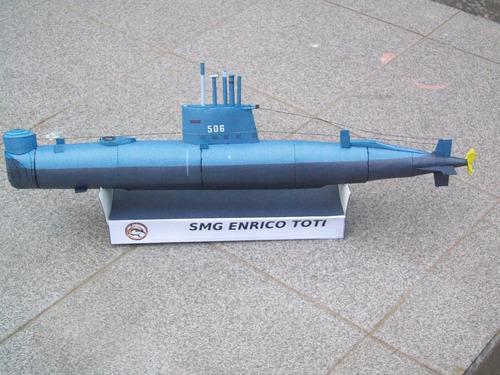 submarino smg enrico toti 1/125 armado en papel