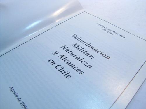 subordinacion militar naturaleza y alcances.m. bascuñan 1996