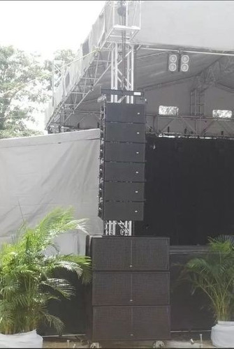 subs lx218ca + procesador dsp4080+bases stake das areo 12