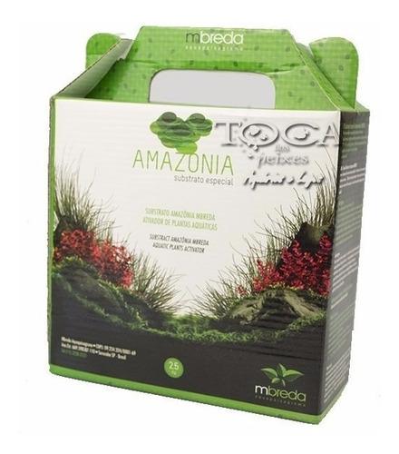 substrato especial amazonia mbreda 2,5 kg aquario plantado