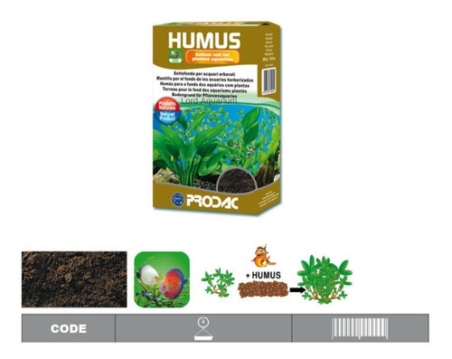 substrato fertilizante prodac humus 500g