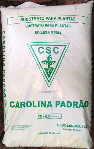 substrato germinação carolina soil á base de turfa - 45 lts