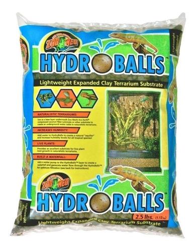 substrato hydroballs zoomed p/répteis 1,13kg - p/ terrário