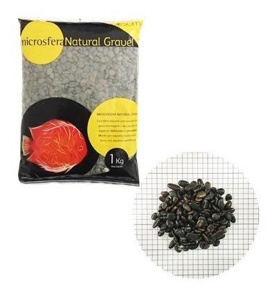 substrato soma microsfera natural gravel pebble black 2-4mm