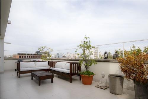 subte, terraza-  moderno, sol y luz - triplex