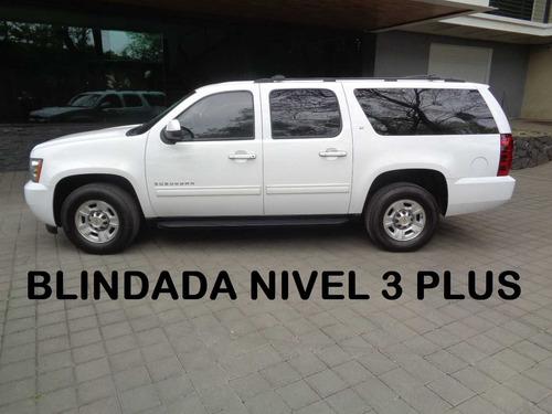 suburban 8 birlos 4x4 limited blindada nivel 3 plus 2012