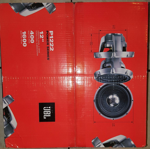 subwoffer o bajo jbl series pro 400rms
